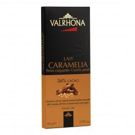 Valrhona CARAMELIA s křupavými perličkami 36 %, 85 g