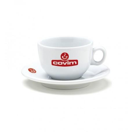 Covim šálek na cappuccino s podšálkem