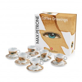illy MAX PETRONE Coffee Drawings, 6x cappuccino šálek