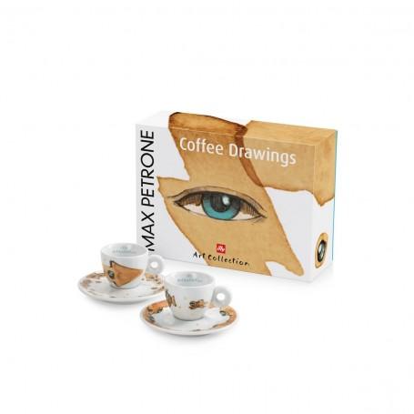 illy MAX PETRONE Coffee Drawings, 2x espresso šálek