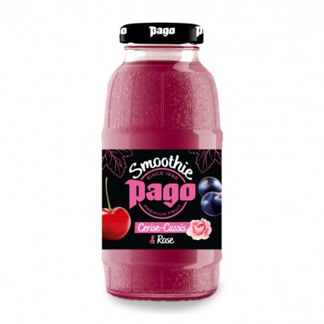 PAGO - smoothie - Cherry, Blackcurrant & Rose 0,2 l - balení 12 ks