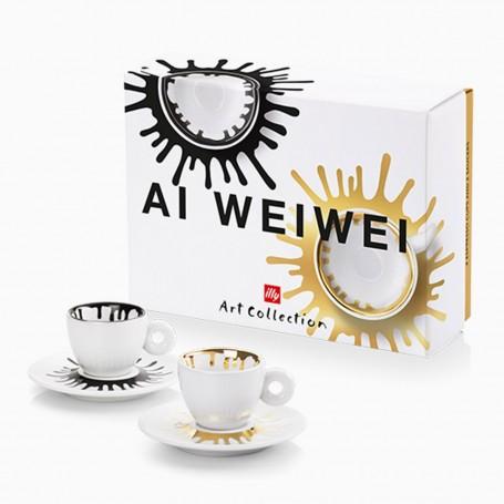 Kolekce illy AI WEIWEI, 2x cappuccino šálek
