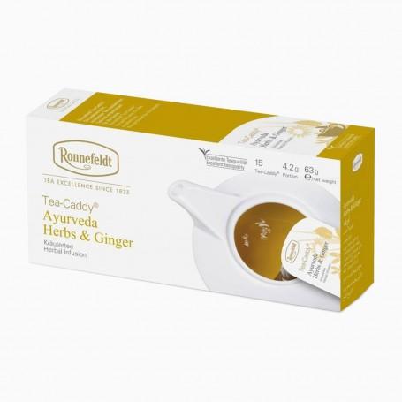 Ronnefeldt Tea-Caddy Ayurveda Herbs & Ginger, 15 porcí