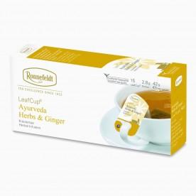 Ronnefeldt LeafCup Ayurveda Herbs & Ginger, 15 porcí