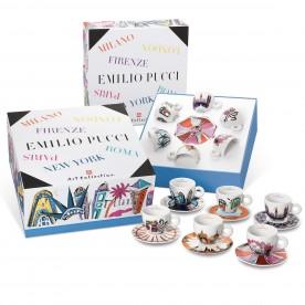 Kolekce EMILIO PUCCI, 6x cappuccino šálek