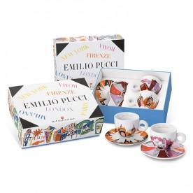 Kolekce EMILIO PUCCI, 2x cappuccino šálek