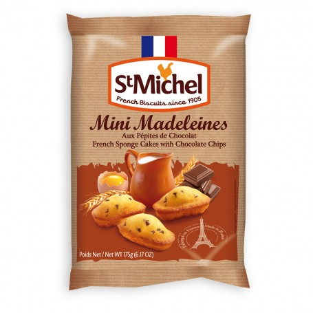 St. Michel Mini madeleines chocolate chips 175 g